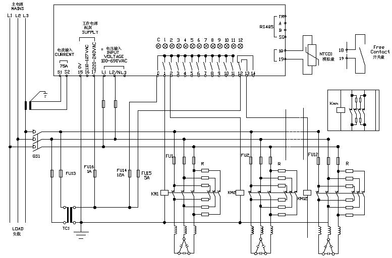 分立电压测量输入电容过载保护及故障保护内部或外部超温保护rs232可